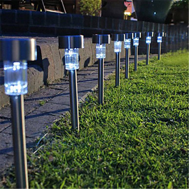 STAINLESS STEEL GARDEN SOLAR POWERED SPOTLIGHT BY MARKET STREET