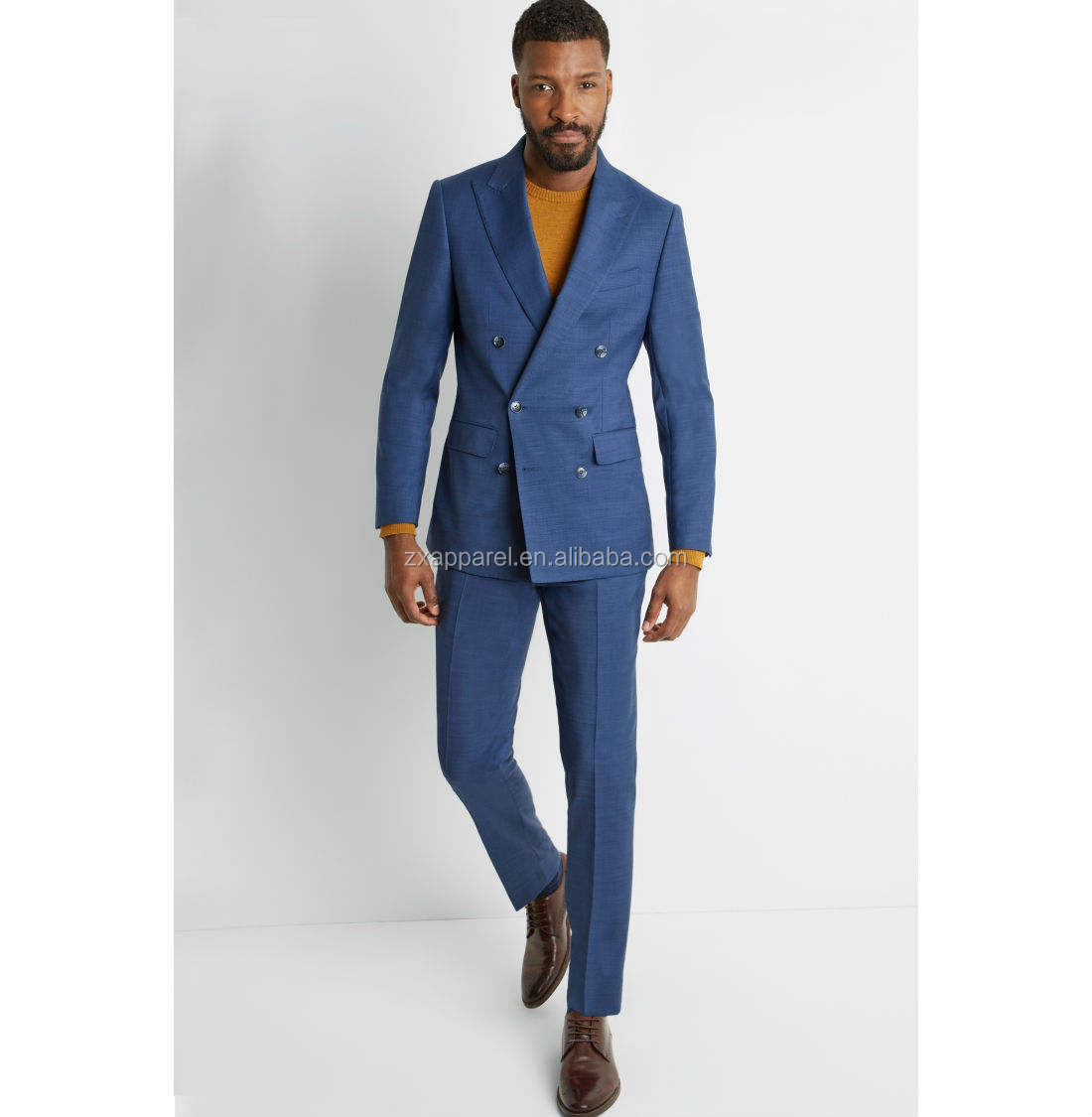 Western style Comfortable and fantastic navy blue tuxedo