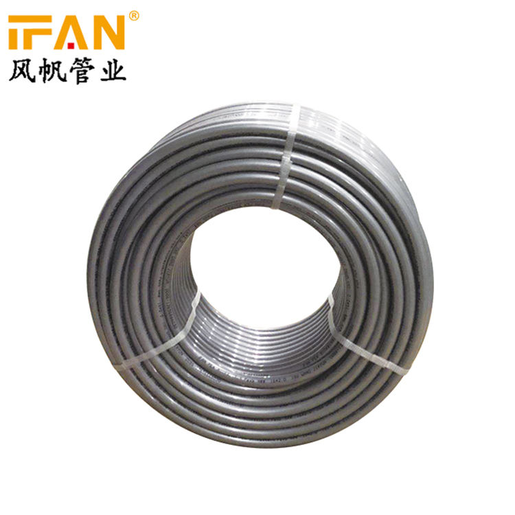 China Manufacturer PERT Pipe 16mm-32mm Plastic Pipe Roll Gray Color Underfloor Heating PERT Pipe for Floor Heating System