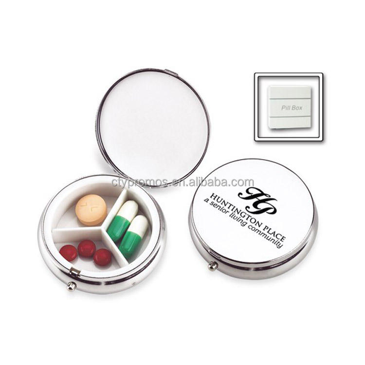 Round Sublimation Decorative Metal Pill Box