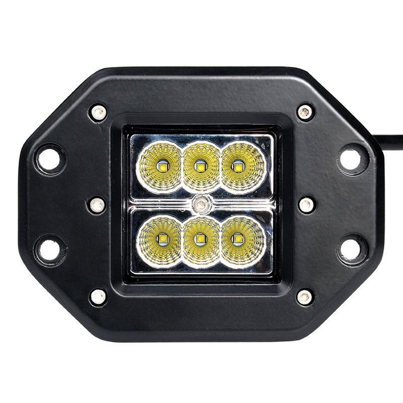 18 Вт заподлицо LED свет работы 12 В 24 В сзади туман лампа 4x4 внедорожный прицеп грузовика ATV автомобиль пикап трактор внедорожник бампер свет работы бар