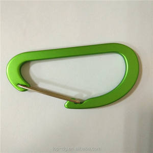 Cheap green color D-shape climbing button carabiner