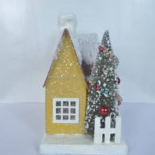 House shaped holiday ornaments China wholesale for Christmas decoration
