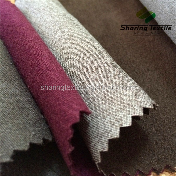 Factory 21S 32S Suede 2 Ways Spandex Bulk Be Ready Made Woven Cotton Tc Pv Suede Fabric For Home Textile Garment