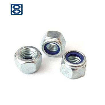 Hardware fasteners carbon steel zinc galvanized nylon insert lock hex cap nylock nut nuts DIN982 985