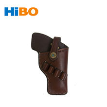 TOURBON Vintage style leather hand gun pistol holster