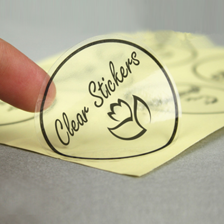 Custom clear transparent vinyl sticker label printing for product label