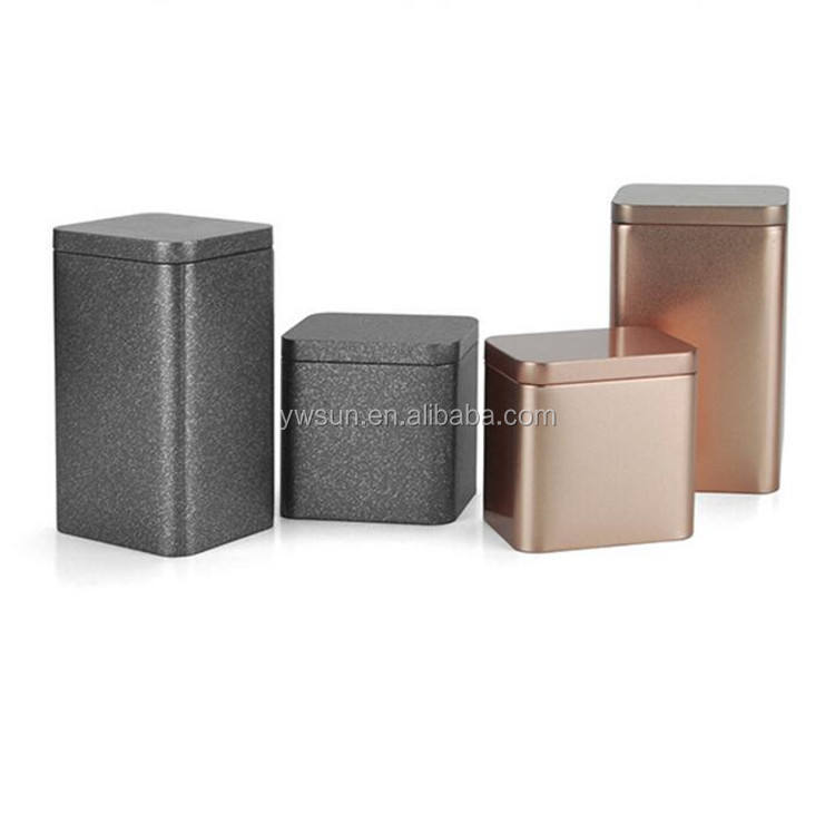 Hot Sale Square Metal Tin Can Tea Gift Packaging Boxes