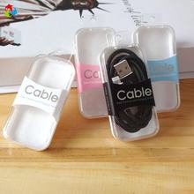 Retail Small Plastic Packaging USB Cable Box