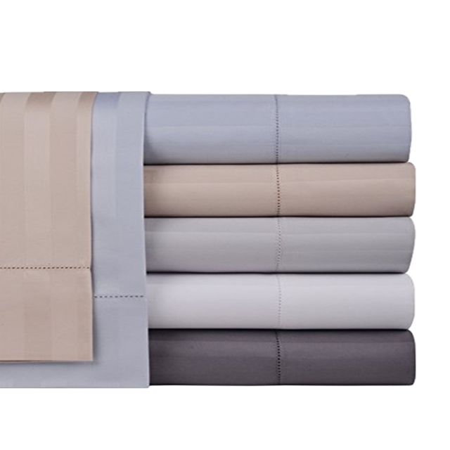 Bedding Premium 100% Cotton Bed Sheet Set Queen Grey 4 Piece Bedding Set Flat Sheet Fitted Sheet and 2 Pillow Cases