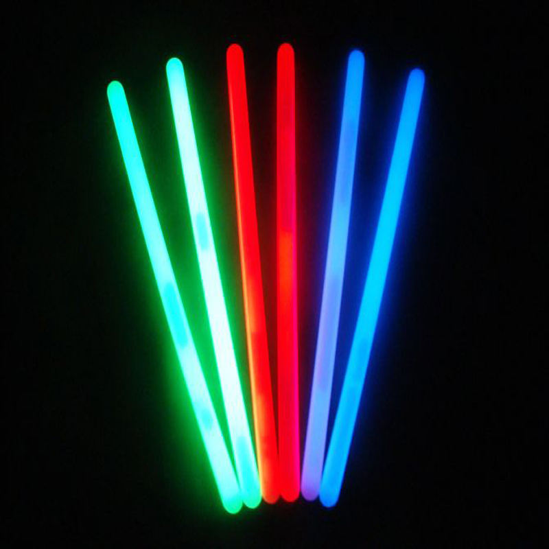 2019 Hot Koop Custom Printing 8 Inch Chemische Led Party Armbanden NeckGlow sticks Led Glowsticks Foam Glow in dark sticks