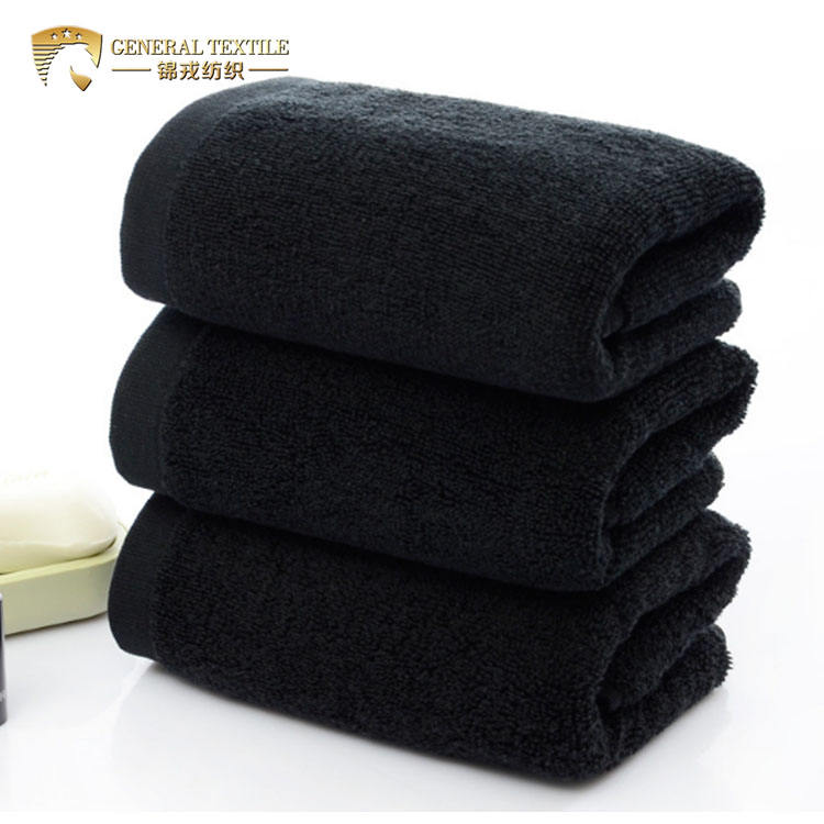JR460 Beauty Salon 100 Cotton 35cm by 75cm Bleach Proof Black Bath Towels