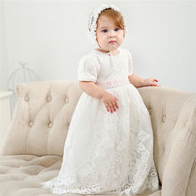 MQ11  Baby Christening Gowns Infant Baby Girl Dress Baptism for Little Girl Clothes Summer Dresses for Baby Girl Wedding