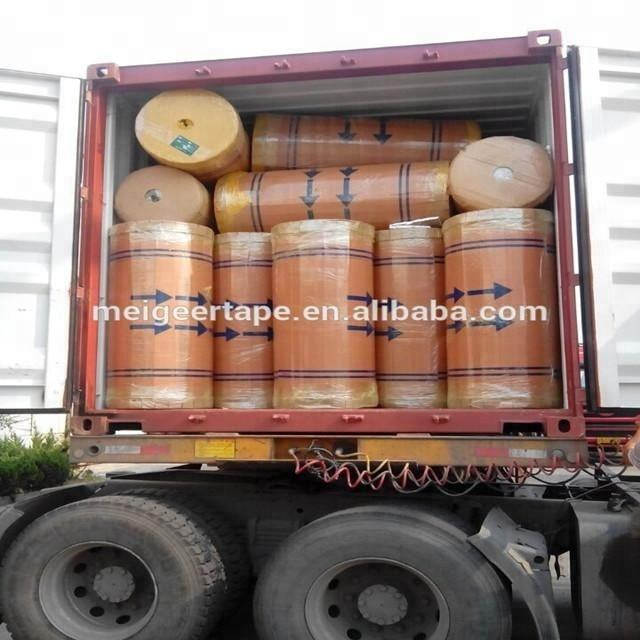 Our Factory Jumbo Rolls BOPP Packing Tape for our PK Karachi Old customers