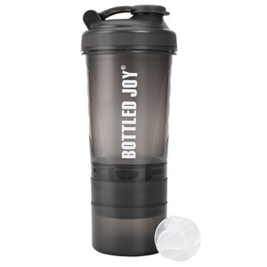 Customized Joyshaker Plastic protein shaker bottle powder storage,Protein Shaker Cup with mixer ball wholesale