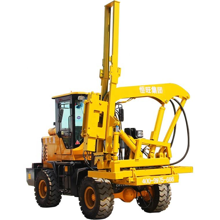 Posts Installation Loader type guardrail pile driver Hydraulic piling pile driver equipment