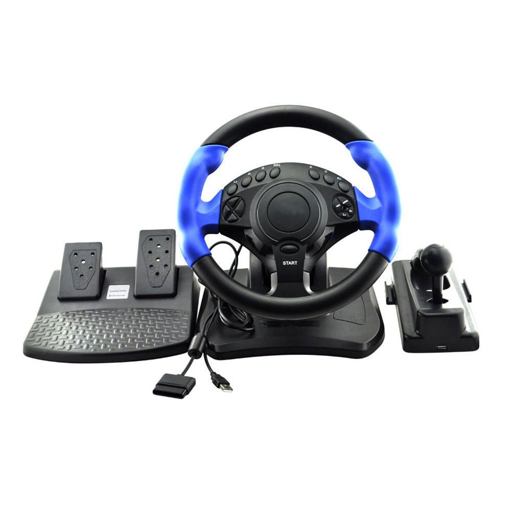2 in 1 Racing Steering Wheel For PS2/PS3/USB PC