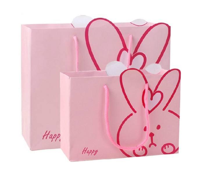 Large Bright Pink Pantone Birthday Party Wedding Loot Shop Treats Gift Paper Bag