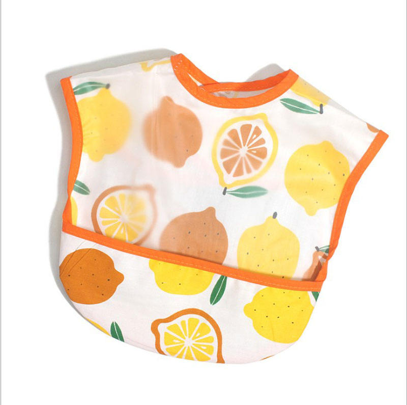 Hot Sale Cute EVA Waterproof Baby Bibs Roll Up container Designer Baby Saliva Towel