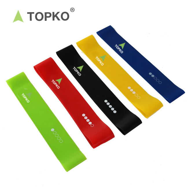 TOPKO Fitness Eco-friendly High quality Stretching Exercise Latex Loop Resistance Bands