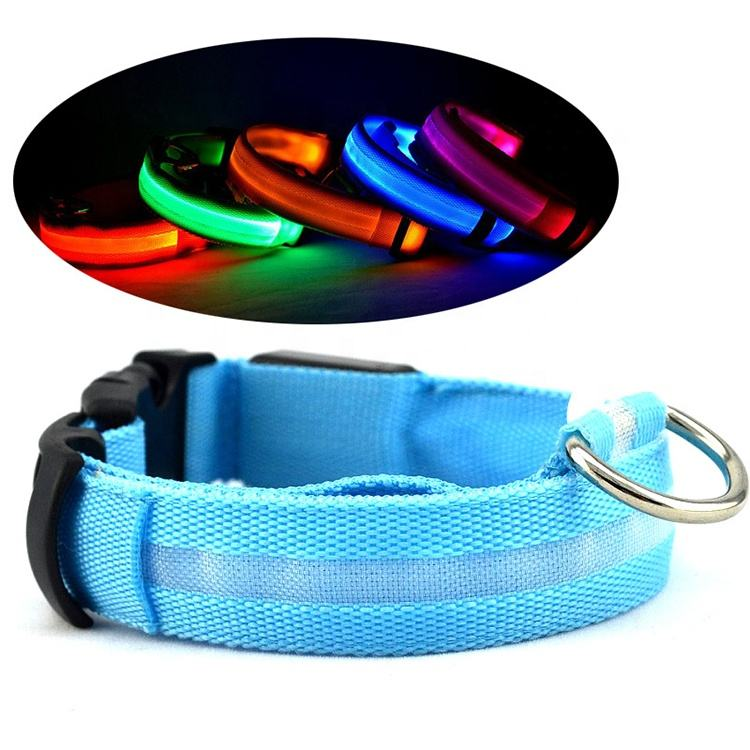 Amazon Best Seller Berkedip Kabel USB Adjustable Isi Ulang Glow Light Up LED Pet Anjing Kerah untuk Anjing