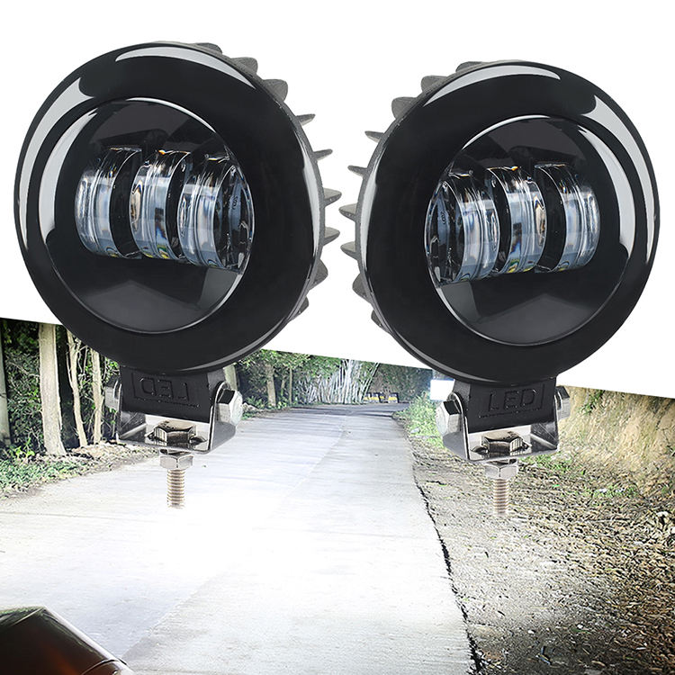 Round Fog Light Off road Vehicles 4 inch Round Led Work Lamp Car Styling Driving Lamp for SUV ATV Motorcycle Headlight