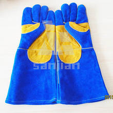 Long cuff welding gloves safety gloves with CE China factory