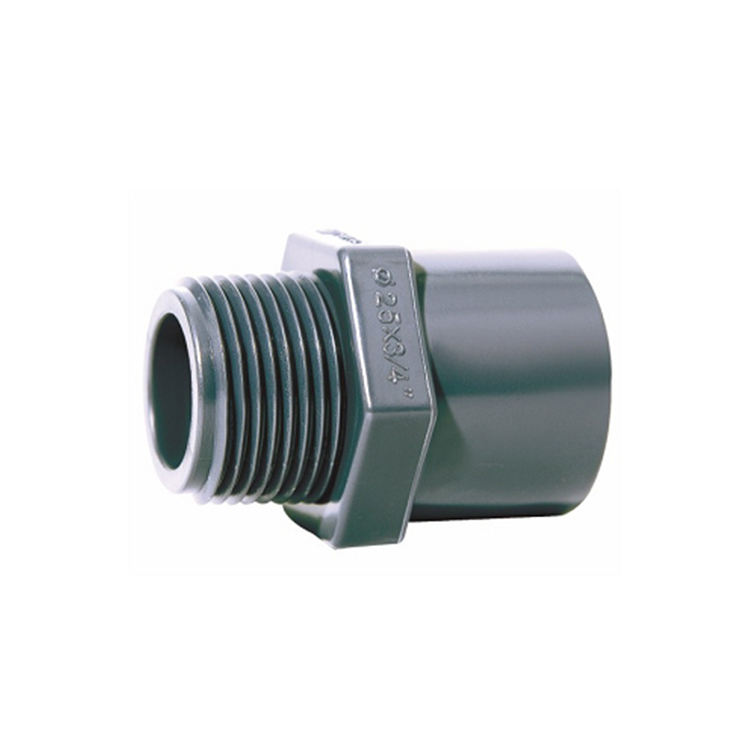 DIN PN16 Plastic UPVC PVC Pipe Fitting Male Female Threaded Adapter