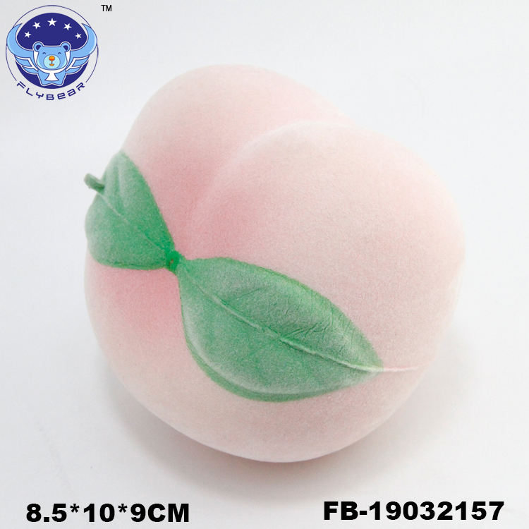 Pu Foam [ Toys Toy ] Animal Toy For Kids New Hot Sale Promotional Style Flocking PU Squishies PEACH Animals Toys Soft Slow Rising For Kids Toy