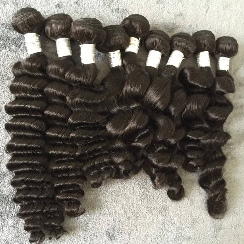 HOT SELLING Single Donor Cuticle Aligned Virgin Hair Vendor Natural Black sixe girl india 100% pure indian hair