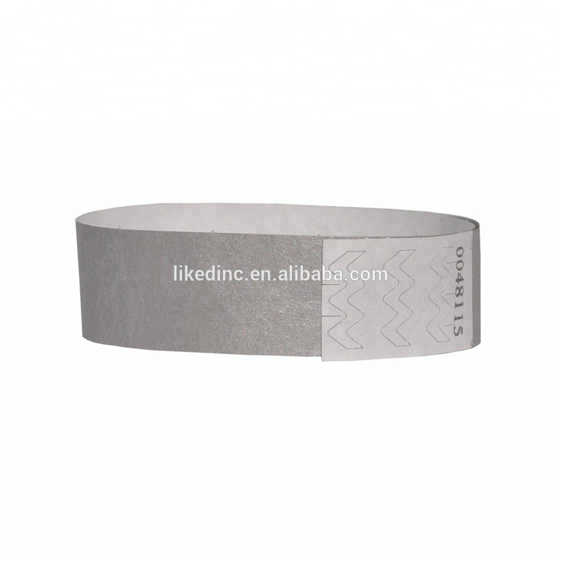 Festival gift one time use writable id barcode tyvek wristbands bracelet for events