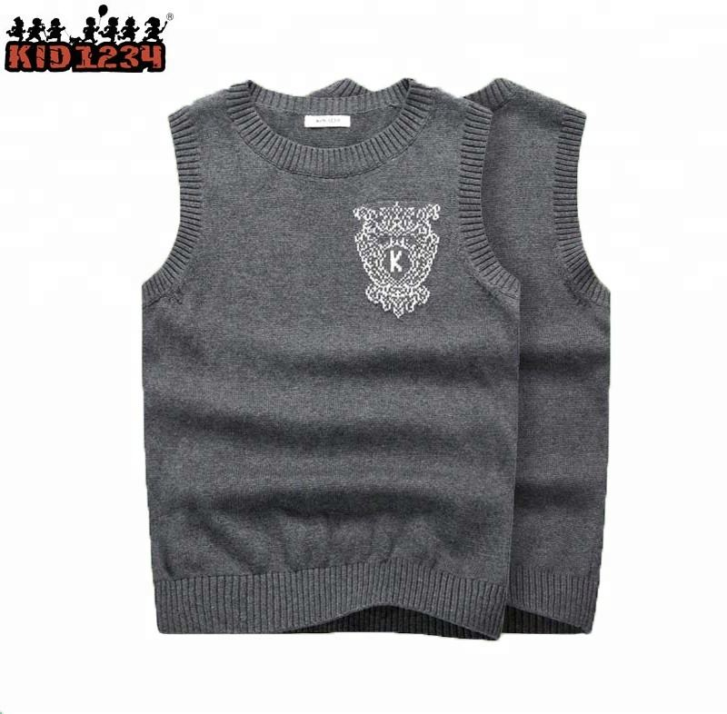 New designs100% cotton kids baby boy sweater vest
