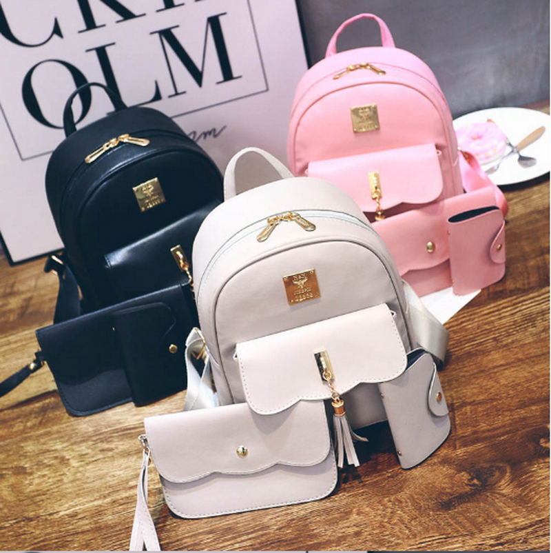 2020 Wholesale Women hand bag Ladies bag set 3pcs Backpack bags