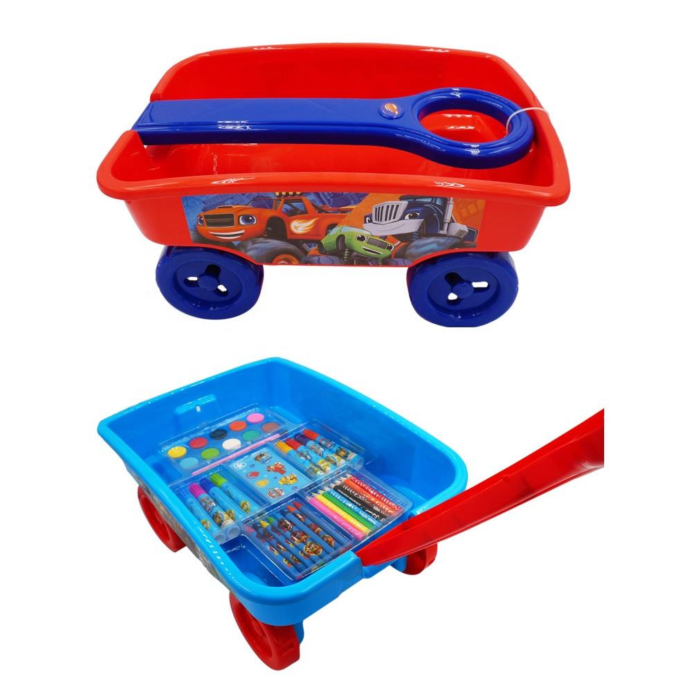 Kids outdoor beach toy pull wagon
