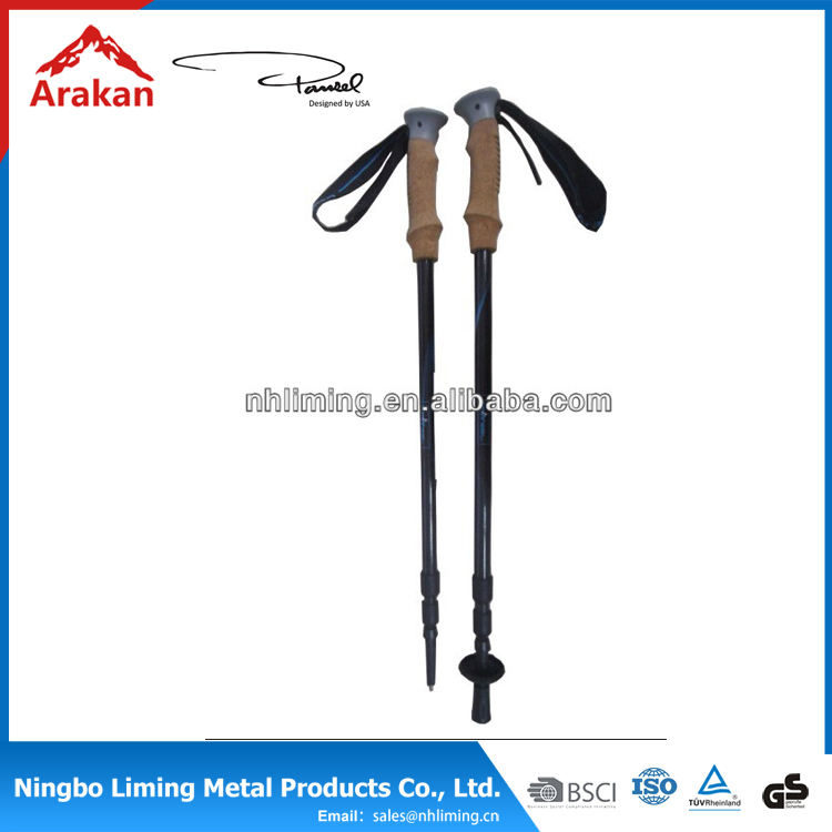 3 Section Ultralight outdoor trekking telescopic carbon fiber hiking pole