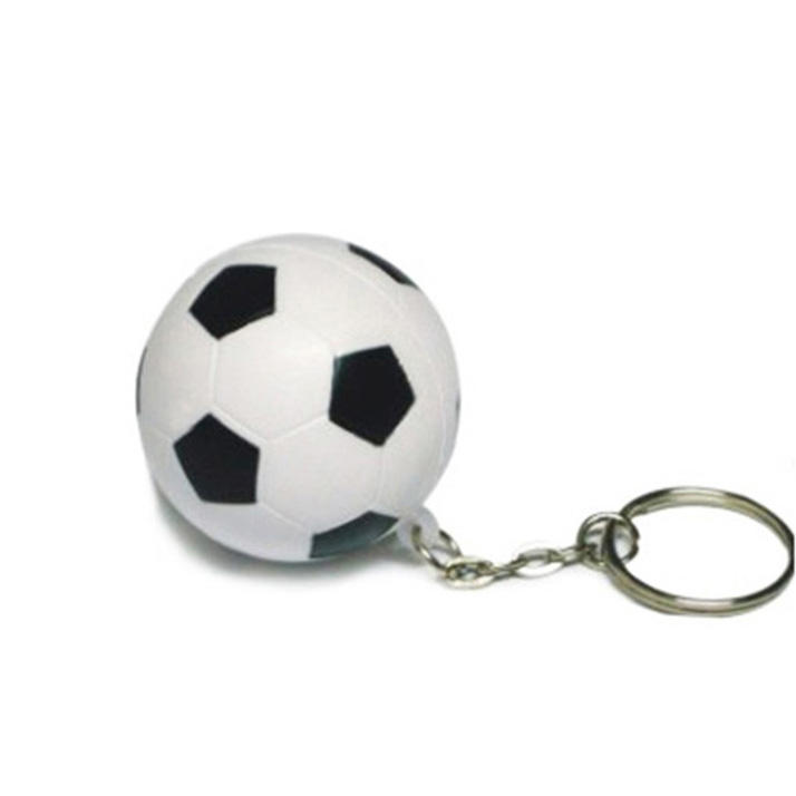 Promotion PU foam mini sports soccer ball keychain