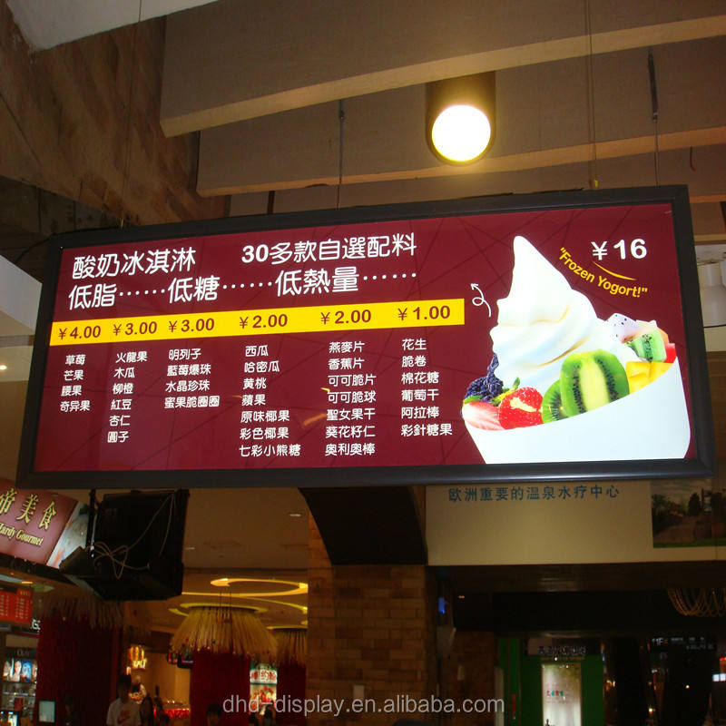 a0 led backlit menu boards hanging menu board for advertising sign board