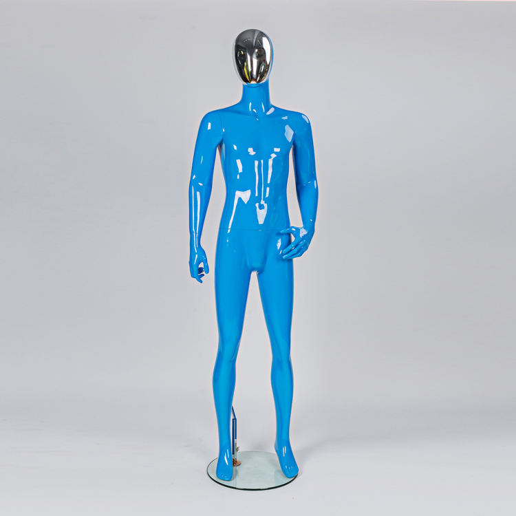 Fashion full body change-able face male mannequin for window display