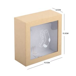 Socks stockings custom gift kraft cardboard pull out slide open packaging box with window