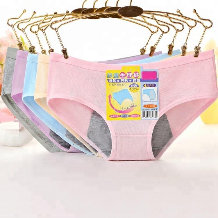 Waterproof Women Menstrual Period Briefs Modal Microfiber Lace Floral Lingerie