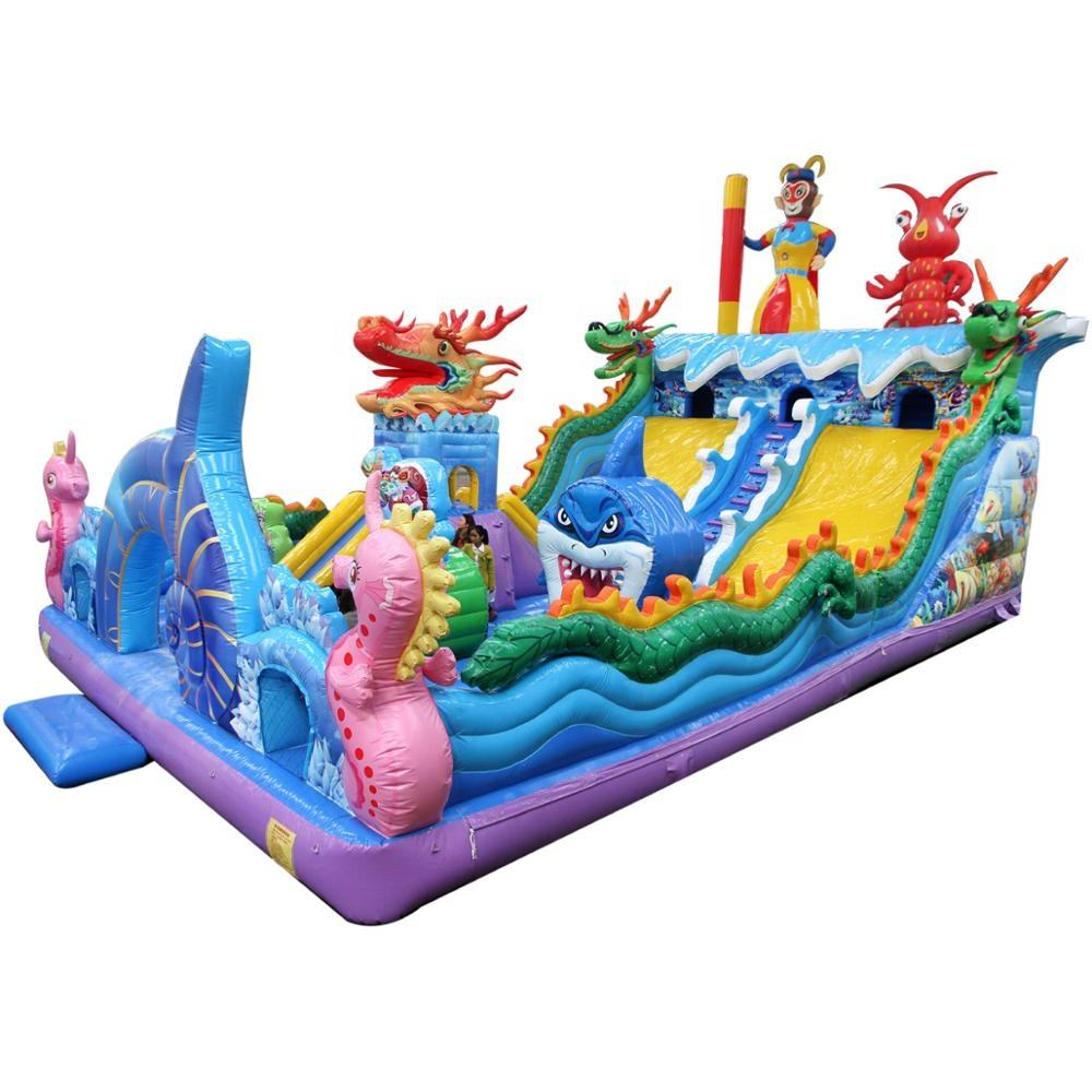 Hot Sales Dragon Inflatable Bouncer Castle Bouncy House Slide Jumping for sale
