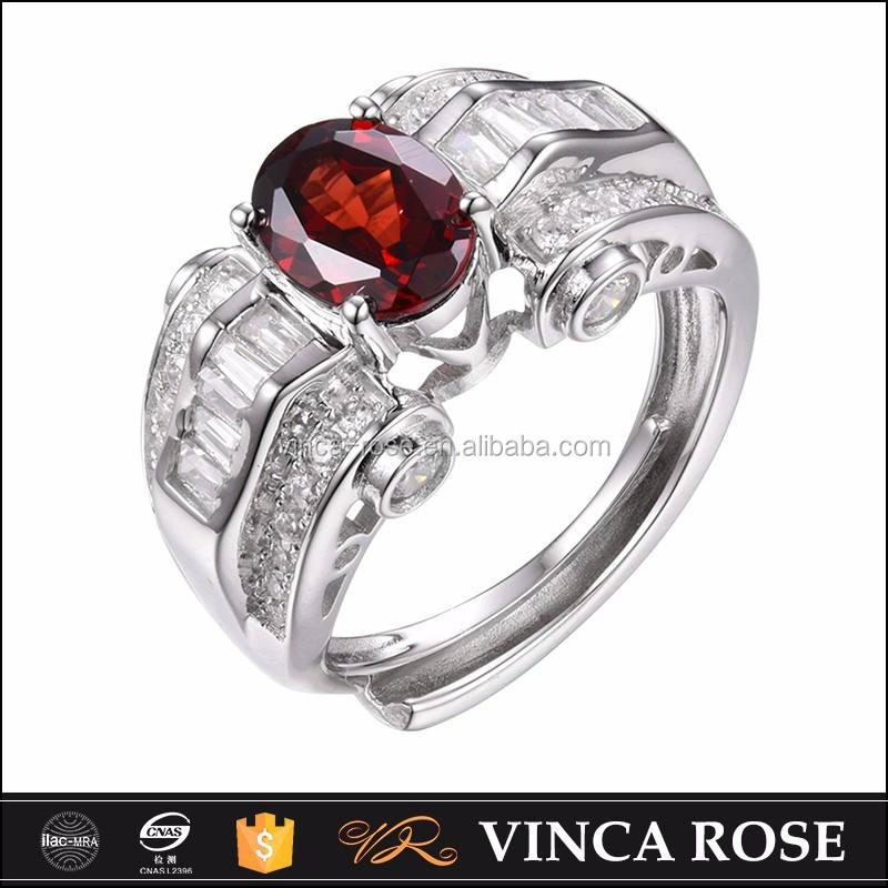 <span class=keywords><strong>Casa</strong></span> de piedra de 5925 anillo de plata de granate anillo de compromiso de diamantes