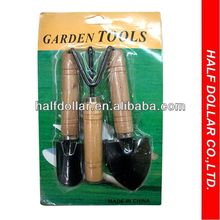 3pcs Gardening Hand Tools Set, Kids Garden Tools with wood handle For One Dollar Item