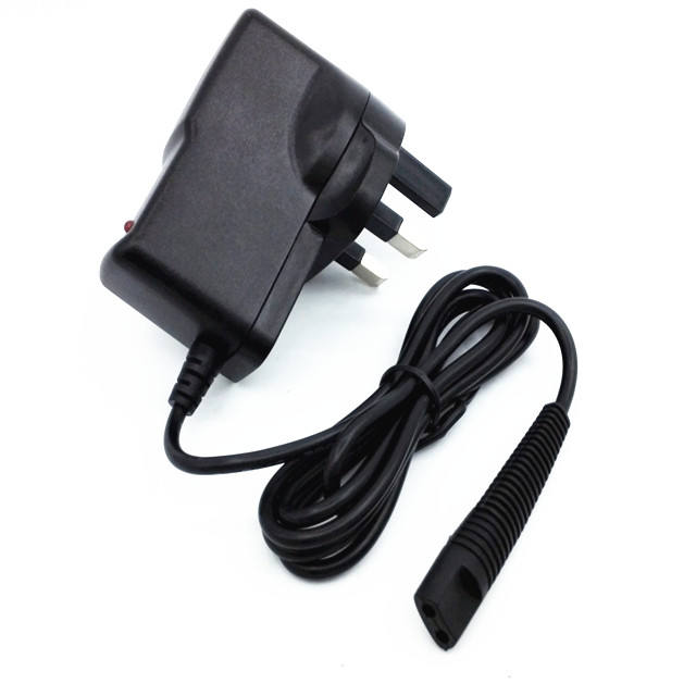 New 12V 400mA EU Replacement power cord charger adapter for Braun Shaver 2 pin