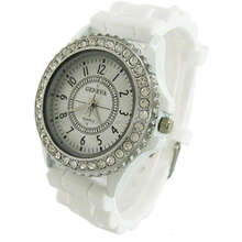 hot & nice design geneva quartz watches price studen/ kids geneva watch