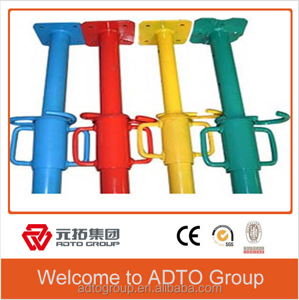 We supply painted Adjustable Steel Prop, supporting system, galvanized scaffolding props