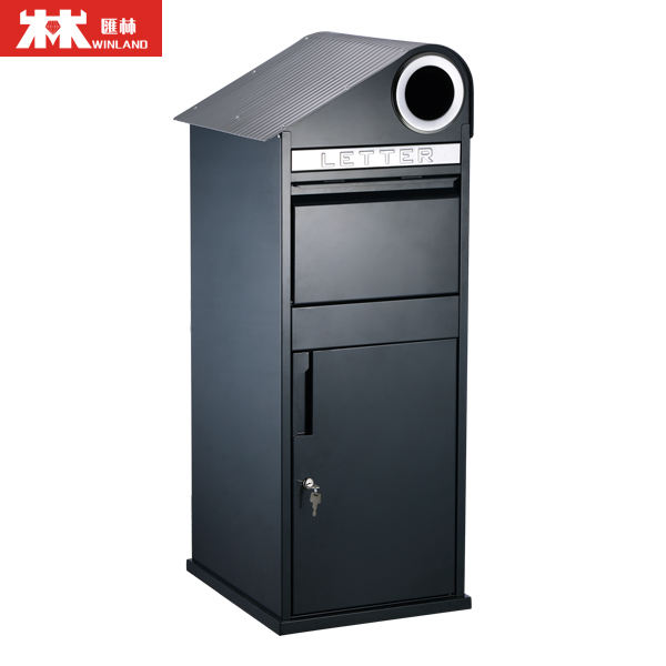 Custom made built in secure outdoor parcel drop box