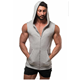 china clothing men custom brand gym wear blank sleeveless hoodies