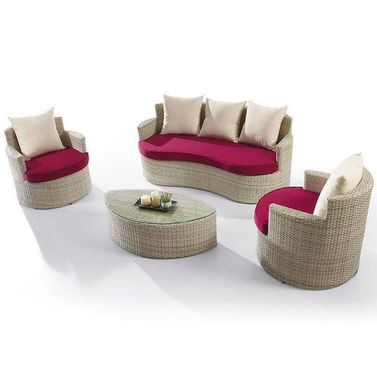 De aluminio profesional al aire libre seccional sofá Swing 2 plazas jardín sofá de la esquina
