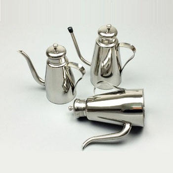 Kitchen Stainless Steel Spice Container Leakproof Olive Oil Cruet Drop Pot & Cooking Oil Bottle
